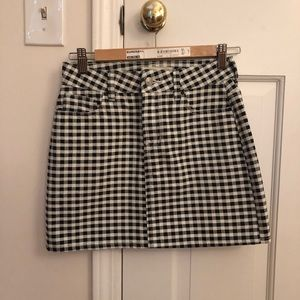 Brand new checkered mini skirt